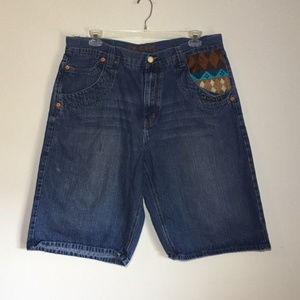 Coogi Embroidered Denim Shorts